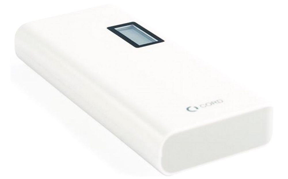 Зовнішній акумулятор Cord L-011 LCD 10000 mAh White-Grey - фото 2.