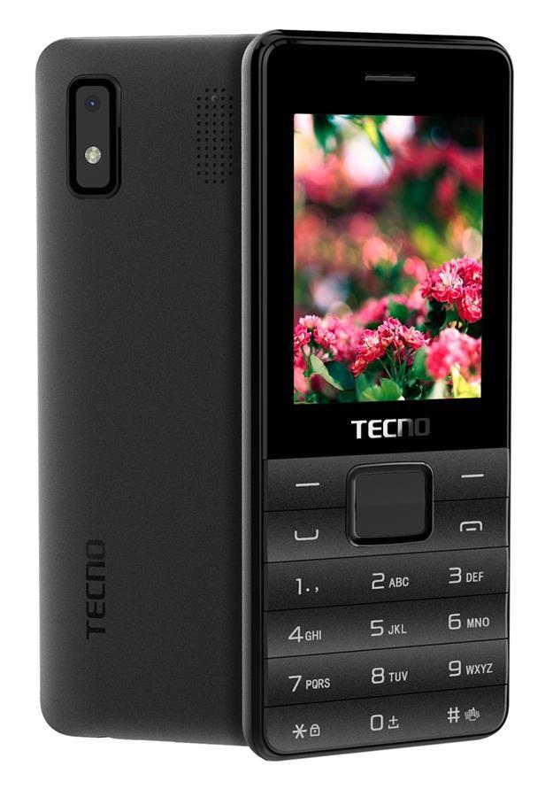 Мобільний телефон Tecno T372 TripleSIM Black - фото 2.