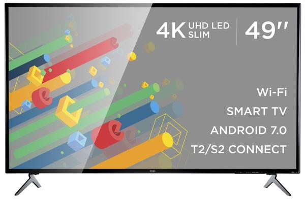 Smart телевізор Ergo LE49CU6520AK - фото 2.