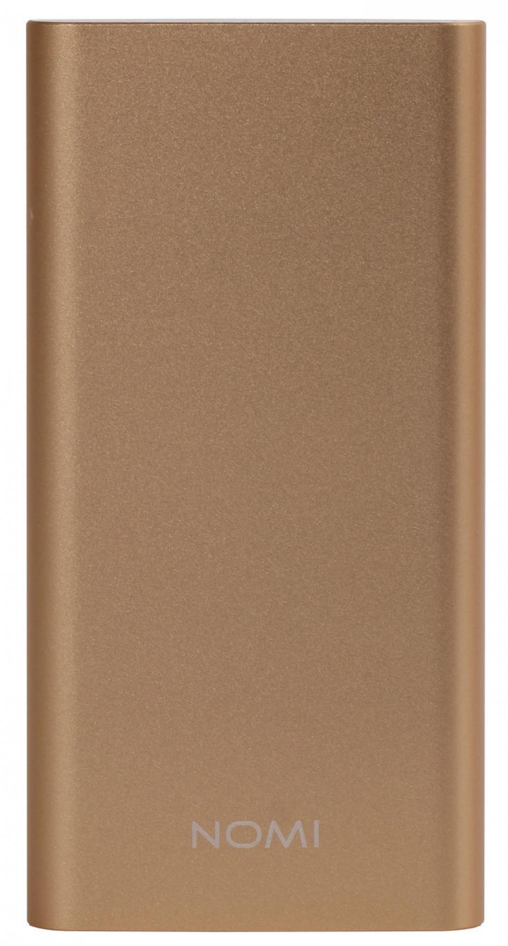 Зовнішній акумулятор Nomi E050 5000 mAh Gold - фото 2.