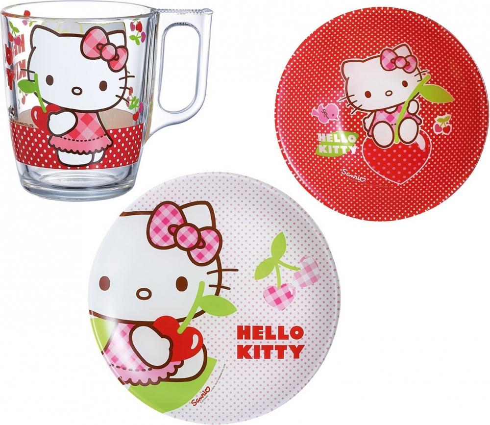 Набор детской посуды Luminarc Hello Kitty Cherries J0768 - фото 2.