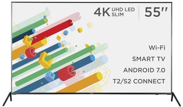 Smart телевізор Ergo LE55CU6530AK - фото 2.