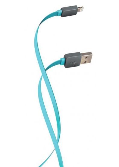 USB кабель Florence Lightning 1m 2 A Aquamarin (FDC-L1-2A) - фото 2.