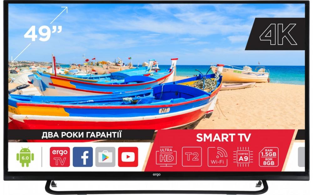 Smart телевізор Ergo 49CU6500AK - фото 2.