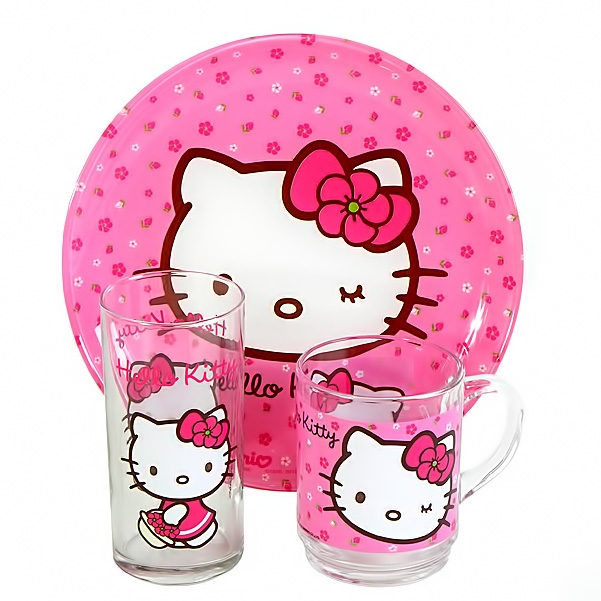 Набор детской посуды Luminarc Hello Kitty Sweet Pink H5483 - фото 2.