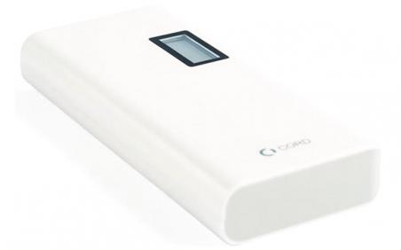 Зовнішній акумулятор Cord L-011 LCD 10000 mAh White-Grey