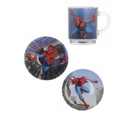 Набір дитячого посуду Luminarc Disney Spiderman Street Fights H4465