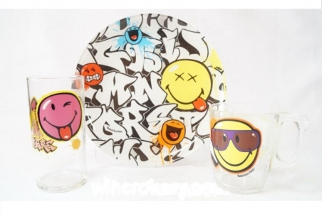 Набор детской посуды Luminarc Disney Smiley World Graffity J1031