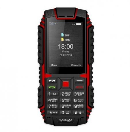Мобільний телефон Sigma mobile X-treme DT68 Black-Red