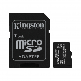 Карта пам'яті Kingston microSDHC 16GB Canvas Select Plus Class 10 UHS-I U1 V10 A1 + SD-адаптер (SDCS2/16GB)