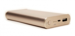 Универсальная мобильная батарея PowerPlant Q1S Quick-Charge 2.0 10200mAh Gold