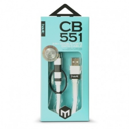 USB кабель Havit HV-CB551 microUSB + Lightning 1м