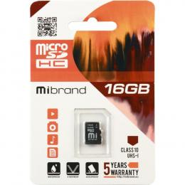 Карта пам'яті Mibrand 16 GB microSDHC Class 10 UHS-I MICDHU1/16GB