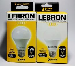 Світлодіодна лампочка Lebron A60 12W Е27 4100K 1050Lm