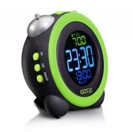 Електронний будильник GOTIE GBE-300Z зелений