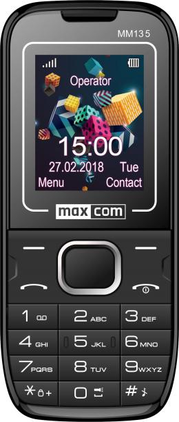 Мобильный телефон Maxcom MM135 Black-Blue