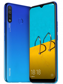 Смартфон Tecno Spark 4 3/32 (KC2) Dual Sim Vacation Blue