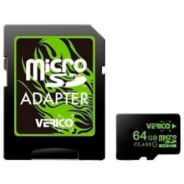 Карта пам'яті Verico MicroSDXC 64GB UHS-I Class 10 + SD adapter (1MCOV-MAX963-NN)