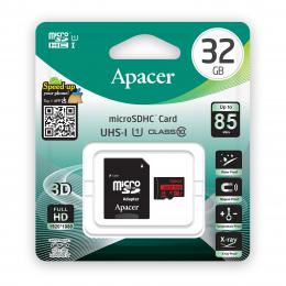 Карта пам'яті Apacer 32GB microSDHC class 10 UHS-I U1 (AP32GMCSH10U5-R)