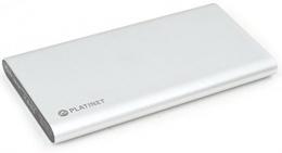 Внешний аккумулятор Platinet 8000 mAh polymer 2xUSB silver (PMPB8PS)
