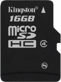 Карта пам'яті Kingston microSD 16 GB Class 4