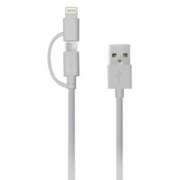 USB кабель Havit HV-CB610X microUSB + Lightning 1м