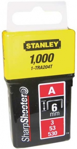Скобы Stanley Light Duty 1-TRA204T