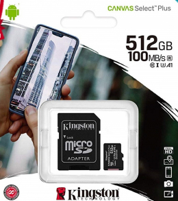 Карта пам'яті Kingston microSDXC 64GB Class 10 UHS-I Canvas Select Plus + Adapter (SDCS2/64GB)