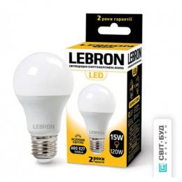 Світлодіодна лампочка Lebron L-A65 15W Е27 4100K 1350Lm