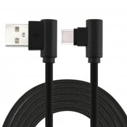 USB кабель Cord Comfort L-shape Type-C 1m 2A Black CDC-T1-2B