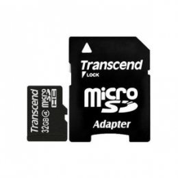 Карта пам'яті Transcend microSDHC 32 GB Class 4 (+ SD 2.0 адаптер)