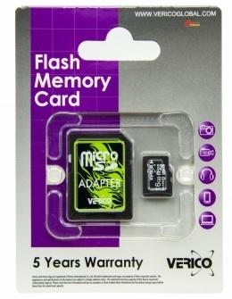 Карта пам'яті Verico microSDHC 16 Gb Class 10 (+ SD адаптер)