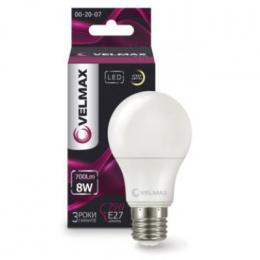 Світлодіодна лампочка Velmax V-А60 12W E27 6500K 1200LM Кут 240° (21-11-47)