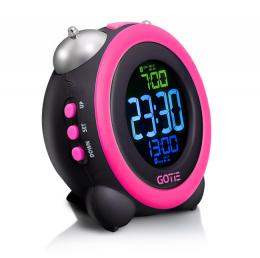Електронний будильник GOTIE GBE-300R рожевий