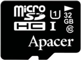 Карта пам'яті Apacer 32GB microSDHC UHS-I Class 10 (AP32GMCSH10U1-RA)