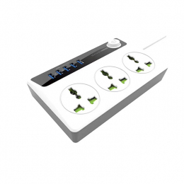 Концентратор USB-хаб Hub Bavin PC-512 3 розетки + USB