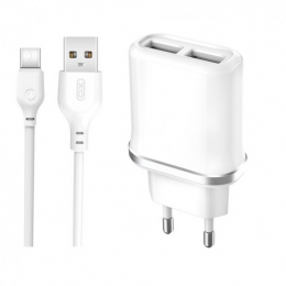 Зарядний пристрій XO L52 2USB + microUSB cable White (XO-L52)