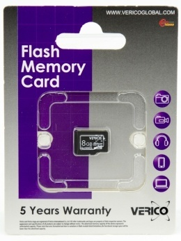 Карта пам'яті Verico microSDHC 8 Gb Class 10