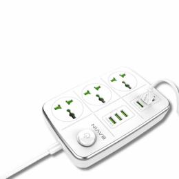 Концентратор USB-хаб Hub Bavin PC-588 3 розетки + USB