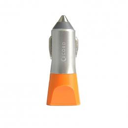 Зарядний пристрій Cord Nova 2 USB 2.1A Silver/Orange CC-1U021O
