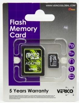 Карта пам'яті Verico microSDHC 32 Gb Class 4 (+ SD адаптер)