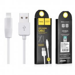 USB кабель Hoco X1 Lightning-USB 1m White