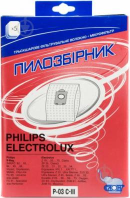 Багаторазові мішки Слон P-03 C-III Philips/Electrolux