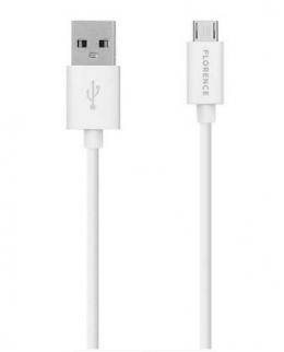 USB кабель Florence microUSB 1m 3A White (FL-2200-WM)