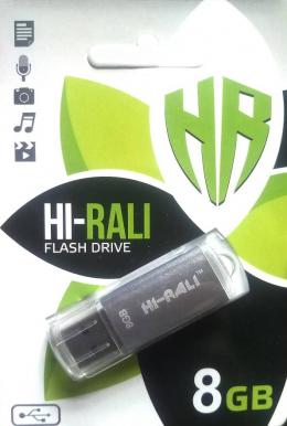USB-флеш-накопитель Hi-Rali 8GB Rocket Silver