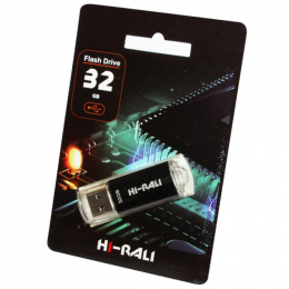 USB-флеш-накопичувач Hi-Rali 32GB Rocket series Black (HI-32GBVCBK)