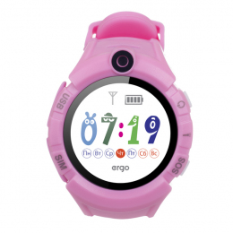 Детские часы с GPS трекером ERGO GPS Tracker Color C010 Pink