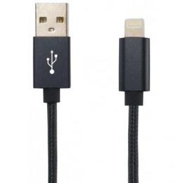 USB кабель Lightning Cord Ares 1м 2A Black (CDAR-L1-2B)