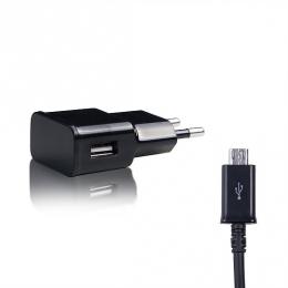 Зарядний пристрій Sertec STC-25 (2100mAh + cable microUSB) Black