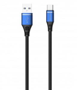 USB кабель Reddax RDX-355 microUSB 2.4A 1000 mm Blue